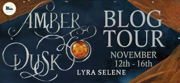 amber and dusk blog tour banner